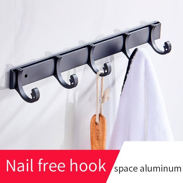 Black Metal Hook Rail 35.3cm