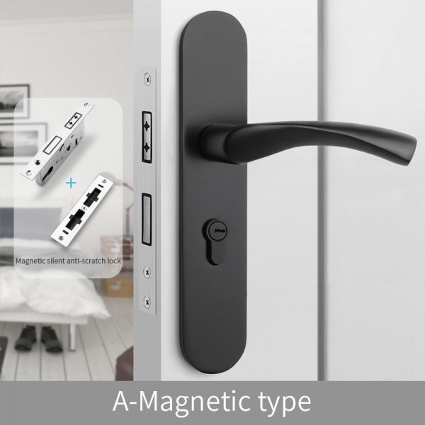 Magnetic Door Lock A-Magnetic type black