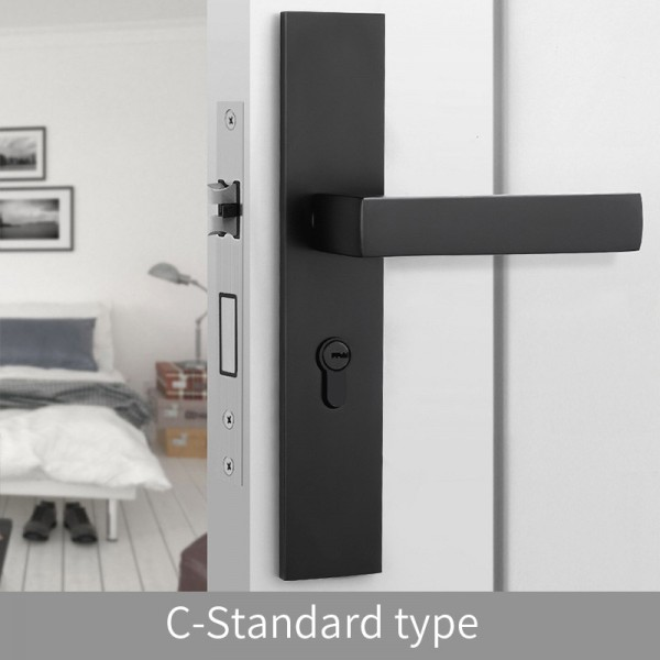 Magnetic Door Lock C-Standard type black