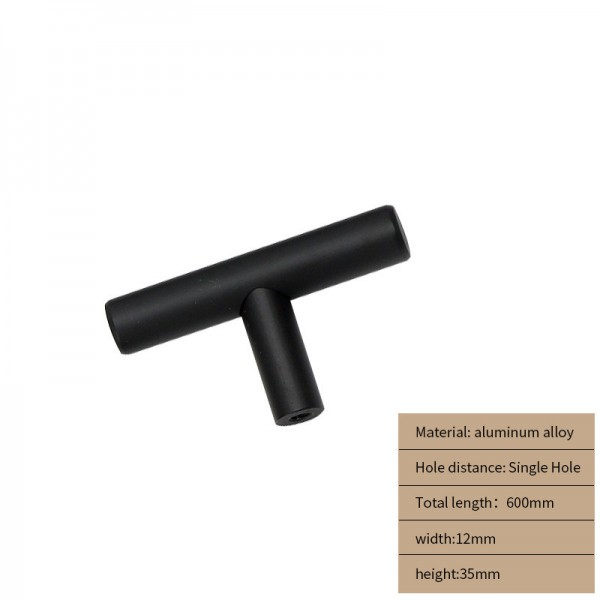 Metal Cabinet handle black 60 cm