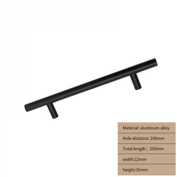 Metal Cabinet handle black long 250 cm