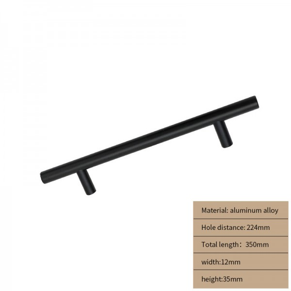 Metal Cabinet handle black long 350 cm