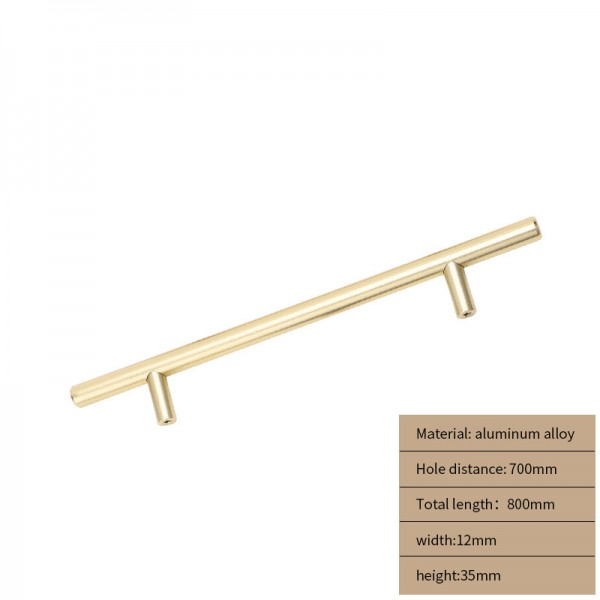 Metal Cabinet handle gold long 800 cm
