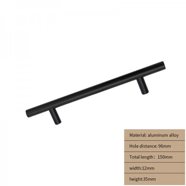 Metal Cabinet handle  long balck 150cm
