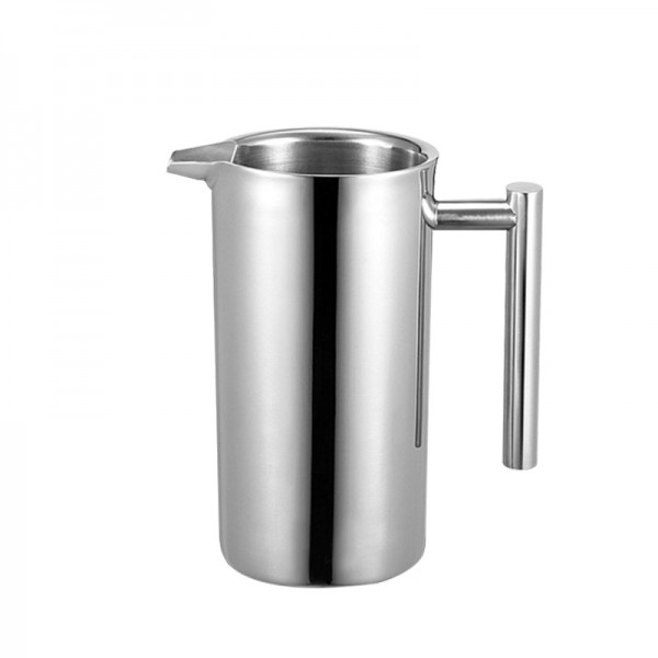 Stainless Steel French Style Coffee Pot  1000ML