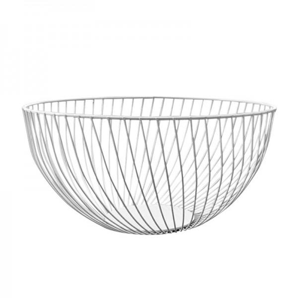 2021 New Metal Fruit Vegetable Storage Bowls Kitchen Baskets Oblique white large
