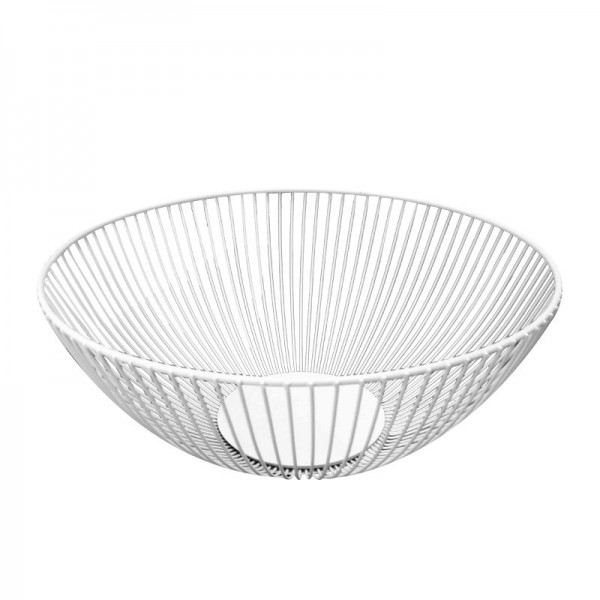2021 New Metal Fruit Vegetable Storage Bowls Kitchen Baskets white trumpet