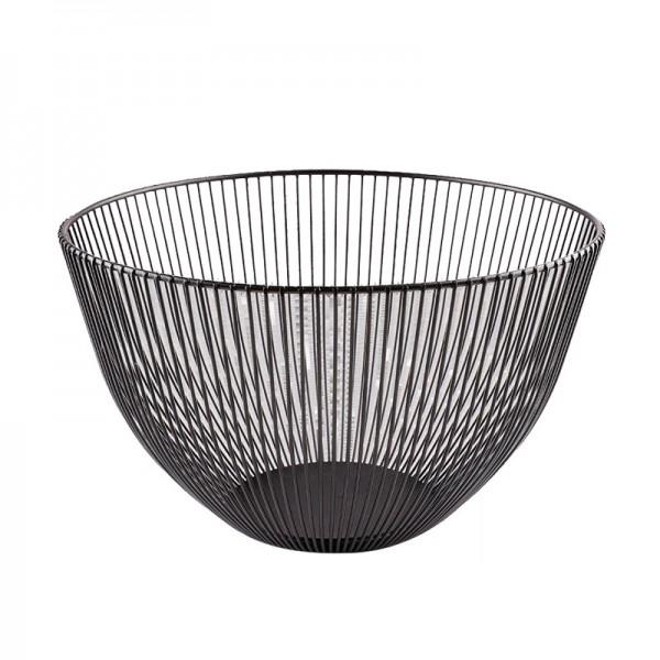2021 New Metal Fruit Vegetable Storage Bowls Kitchen Baskets  black  large