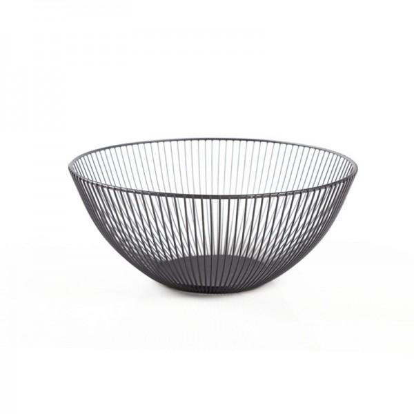 2021 New Metal Fruit Vegetable Storage Bowls Kitchen Baskets Black trumpet