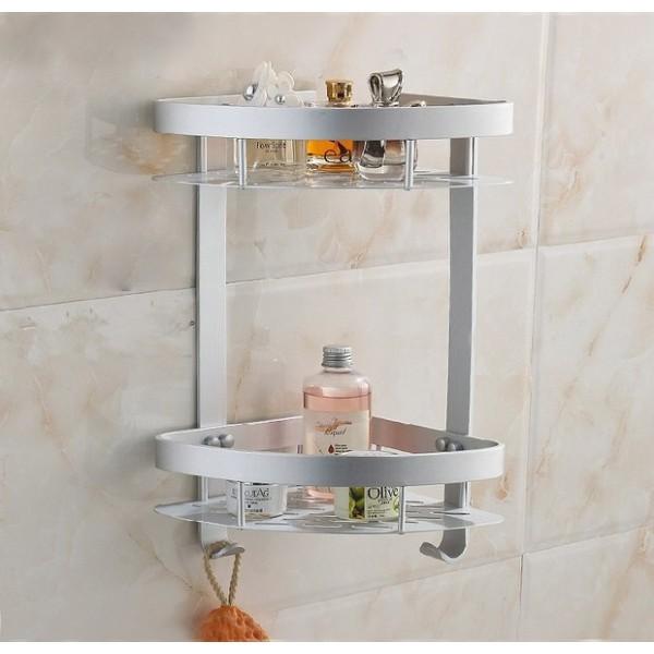 Bathroom Double triangle shelf