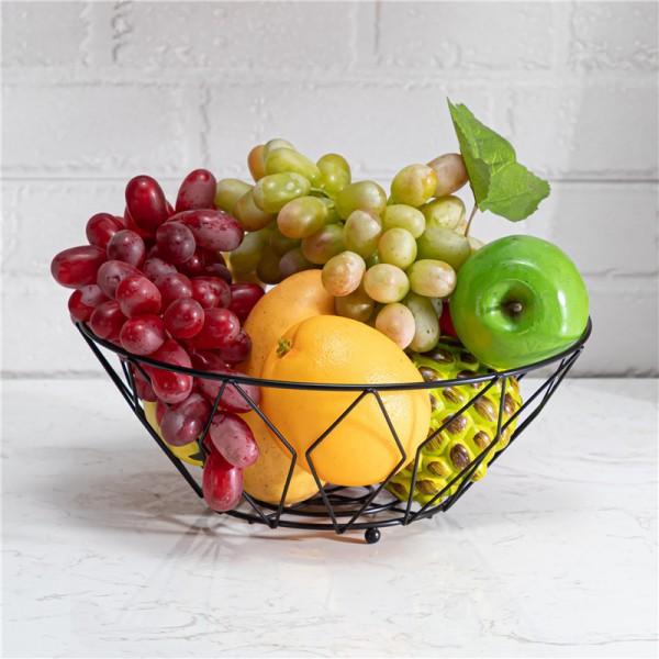 Black prismatic fruit basket