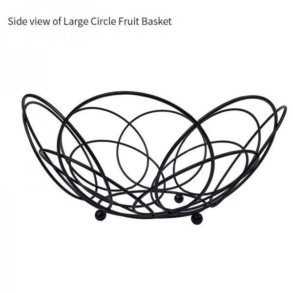 Black large circle fruit basket
