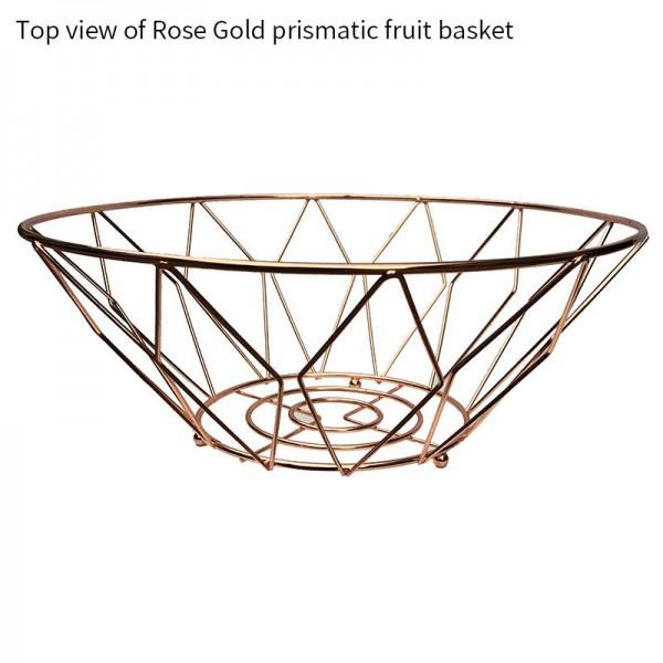 Rose gold prismatic fruit basket