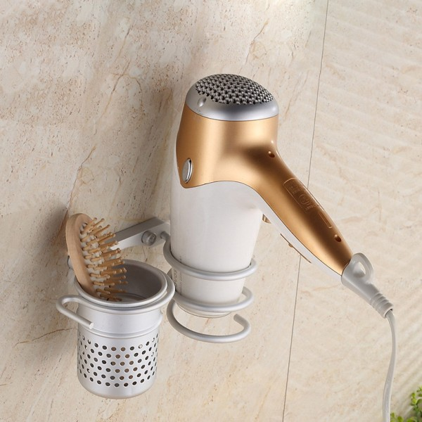 Hair Dryer  shelf  with a  cup with hook design