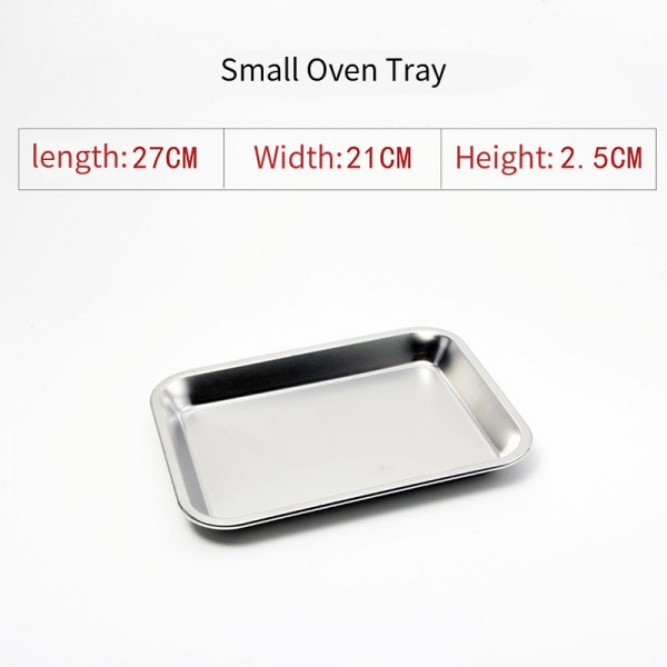 Stainless steel oven tray (Small )