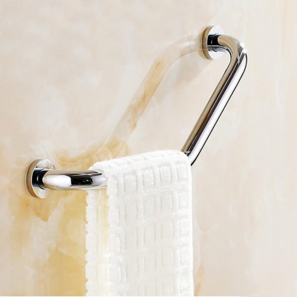 Angled Grab Rail  Towel Rack Bathtub Elderly Safety Armrest