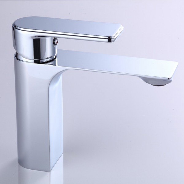 Blue 1 lever Chrome-plated Contemporary Basin Mono mixer Tap