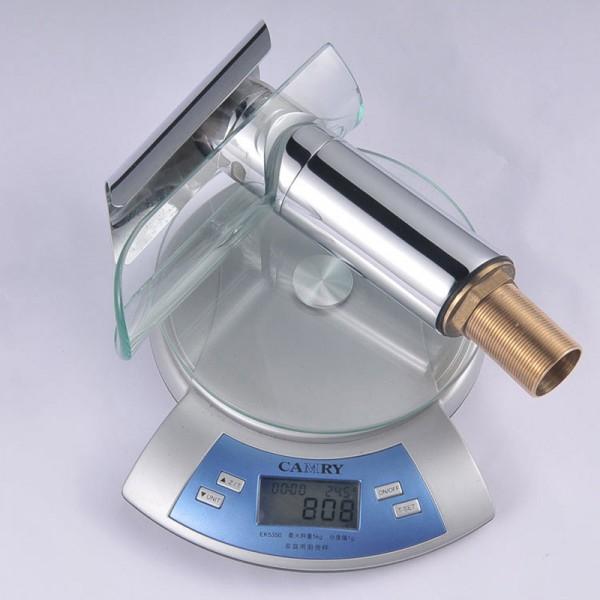Glass Waterfall 1 lever Contemporary Basin Mono mixer Tap