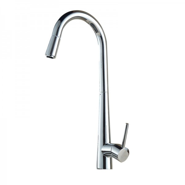 Weiw Chrome effect Kitchen Side lever Pull Out Brass Mixer tap