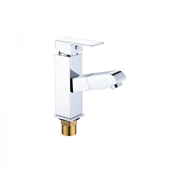 Pull-out mixer basin taps
