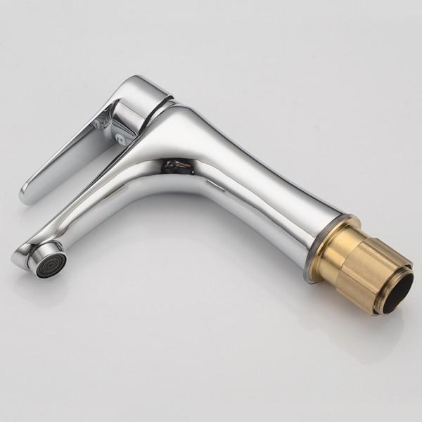 Modern Shape 1 lever Chrome-plated Contemporary Basin Mono mixer Tap