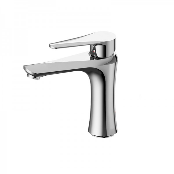 Modern Shape 1 lever Chrome-plated Contemporary Basin Mono mixer Tap